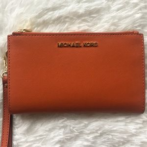 NWT Michael Kors Double Zip LG Wristlet Wallet
